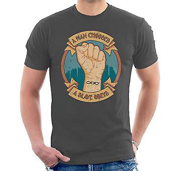 A Man Chooses A Slave Obeys Bioshock Men's T-Shirt