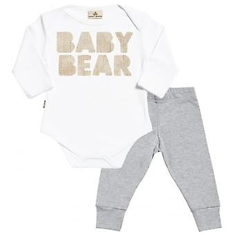 Spoilt Rotten Baby Bear Babygrow & Baby Jersey Trousers Outfit Set