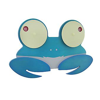 Shelly the Blue Googly Eyed Crab Wooden Wall Clock