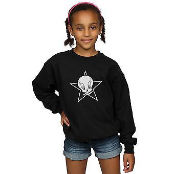 Looney Tunes Girls Tweety Pie Mono Star Sweatshirt