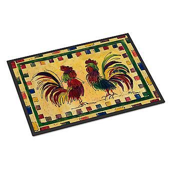 キャロラインズ宝物 8062MAT 鳥 - 酉屋内または屋外マット 18 x 27 玄関マット
