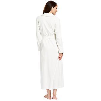 Féraud 3883035-10044 Women's Champagne White Cotton Robe Loungewear Bath Dressing Gown