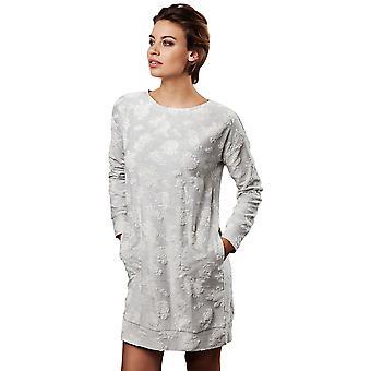Pastunette 1072-320-2-953 vrouwen Luxe licht grijs bloemen Night Gown Lounge Pyama