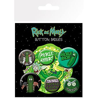 Rick och Morty Pickle Rick Badge Pack
