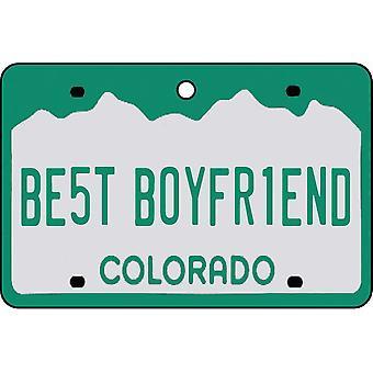 Colorado - Best Boyfriend License Plate Car Air Freshener