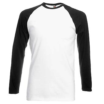 Fruit of the Loom Mens Long Sleeve Cotton Baseball T Shirt
