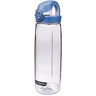Nalgene OTF 24oz Bottle with Seaport Blue Cap (Transparent)
