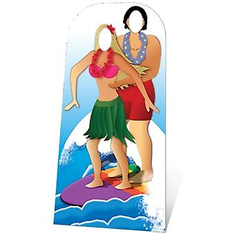 Hawaiian Surfer Couple Stand-In NEW
