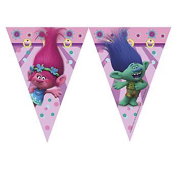 Gagliardetto Garland de Coquette troll bambini festa compleanno