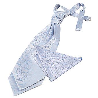 Baby Blue Swirl bruiloft Cravat & zak plein Set