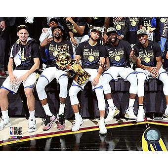Golden State Warriors juhlia voittaa pelin 4 2018 NBA Finals Photo Print