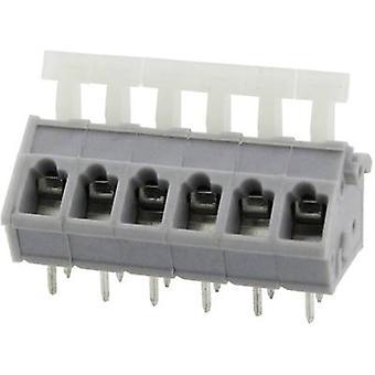 Degson DG243-5.0-10P-11-00AH-1 Veerbelaste terminal 3,31 mm² Aantal pinnen 10 Grijs 1 st(en)