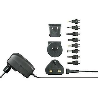 VOLTCRAFT SPS12-7W lysnettet PSU (Justerbar spænding) 3 V DC, 4,5 V DC, 5 V DC, 6 V DC, 7,5 V DC, 9 V DC, 12 V DC 600 mA 7,2 W