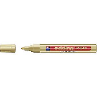 Edding 4-750053 edding 750 verf marker Verf marker Gold 2 mm, 4 mm 1 pc's/pack