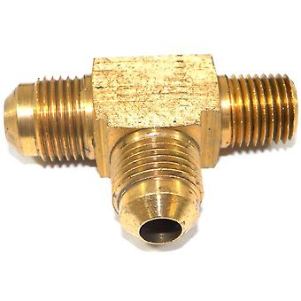 Big A Service Line 3-151640 Brass Pipe, Flare Tee Fitting 3/8