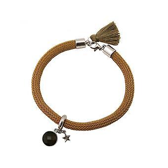 Women - bracelet - 925 Silver - gemstone - smoky quartz - STAR - star - Brown