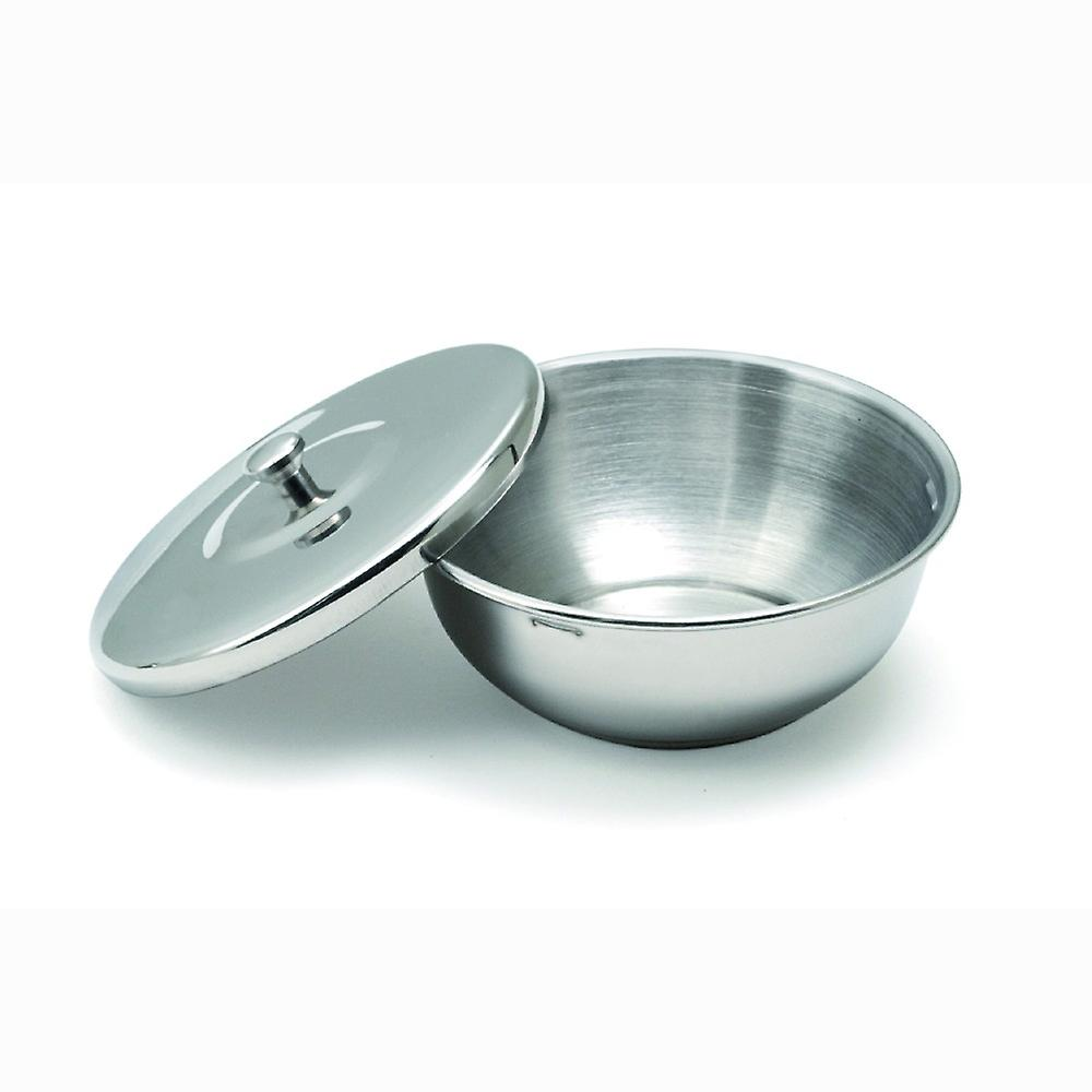 Stainless steel shaving bowl with cover Direct from France