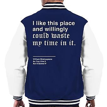 Chętnie tracić czasu jak ty jak to Shakespeare cytat mężczyzn uniwerek kurtka