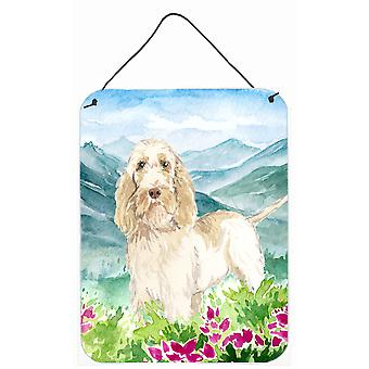 Mountian Flowers Spinone Italiano Wall or Door Hanging Prints