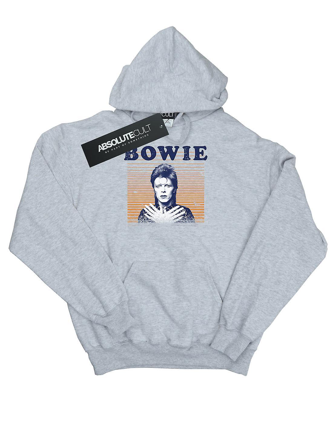 David Bowie Men's Orange Stripes Hoodie