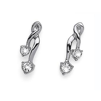 Oliver Weber Post Earring Number Rhodium Crystal