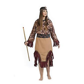 Costume de Dame indienne Squaw Mesdames robe indienne costume Apachin