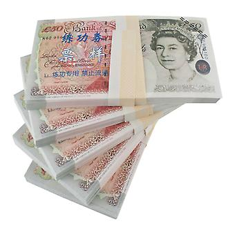 Play money-50 GBP (100 banknotes)