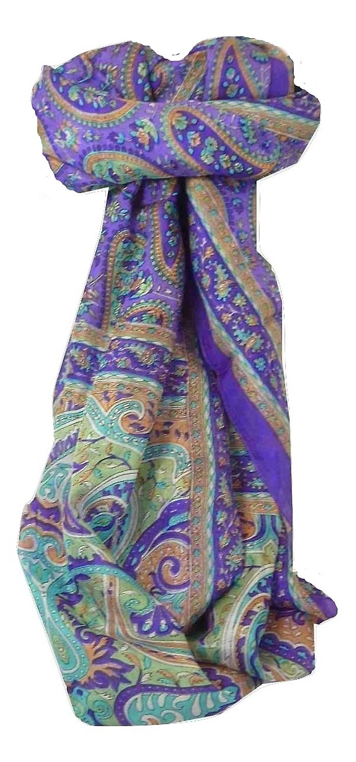 Mulberry Silk Traditional Long Scarf Koel Violet by Pashmina & Silk