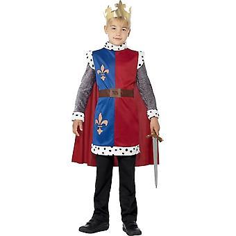 King Arthur middelalderske tunika, drakt, middels alder 7-9