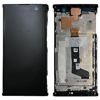 Sony дисплей LCD полный с рамкой для Xperia XA2 черный запасных частей