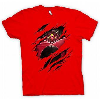 Womens T-shirt - Rode nevel geript Design - Kickass geïnspireerd superheld