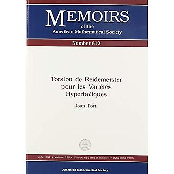 Torsione de Reidemeister pour les vari + - t + - s hyperboliques