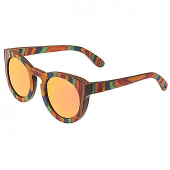 Spectrum Kekai Wood Polarized Sunglasses -Multi/Red