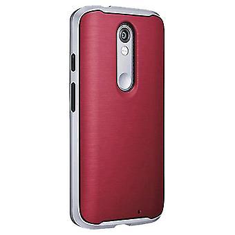 Verizon pehmeä Kumipuskurin tapaus Motorola Droid Turbo 2 - Marsala punainen