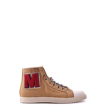 Marc Jacobs Ezbc062033 Uomini's Beige Tessuto Hi Top Sneakers