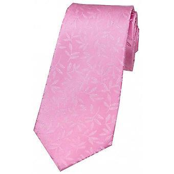 David Van Hagen Leaf mönster sidenslips - rosa