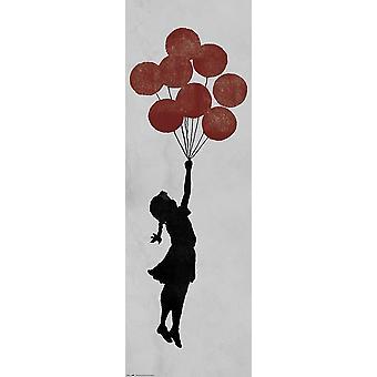 Banksy poster girl floating door poster Brandalised T rposter