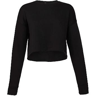 Cotton Addict Womens/Ladies Cropped Crew Fleece Sweatshirt