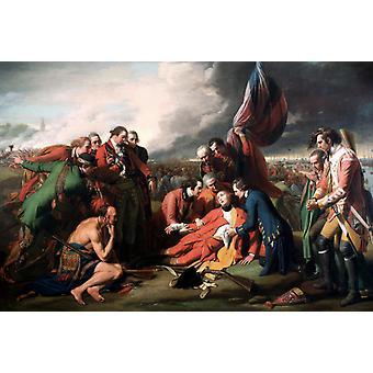 Der Tod des General Wolfe, Benjamin West, 40x60cm mit Tablett