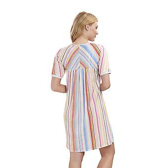 Féraud 3191320-16397 Women's High Class Multicolour Stripe Night Gown Loungewear Nightdress