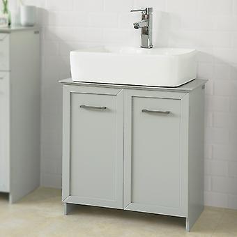 SoBuy Bathroom Storage Cabinet with Doors, BZR07-HG
