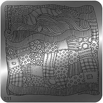 MoYou Square Stamping Nail Art Image Plate - 511