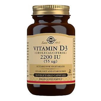 Solgar Vitamina D3 55ug (2200iu) Vegicaps 50 (3316)