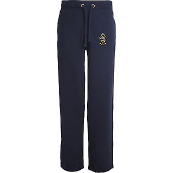 Queens regiment-licenseret British Army broderet åbne hem sweatpants/jogging bunde