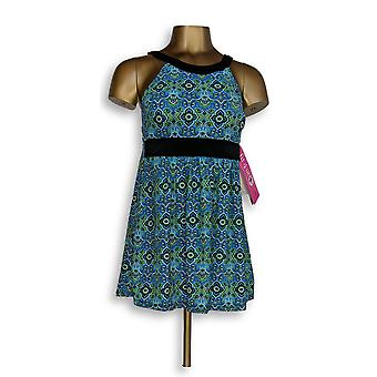 Fit 4 U badpak Hi Neck Dresskini blauw/groen A304230