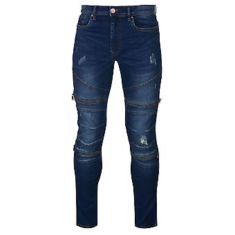 Firetrap mens Fashion jeans bodems broek broek