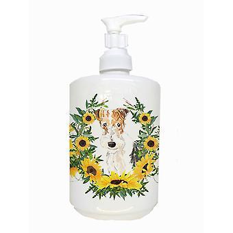 Carolines Treasures  CK2954SOAP Fox Terrier Ceramic Soap Dispenser