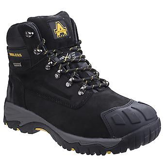 Amblers Safety Mens FS987 Metatarsal Protection Waterproof Lace Up Safety Boot Black