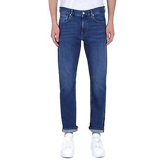 Calvin Klein Lewis Slim Fit tummansininen denim farkut
