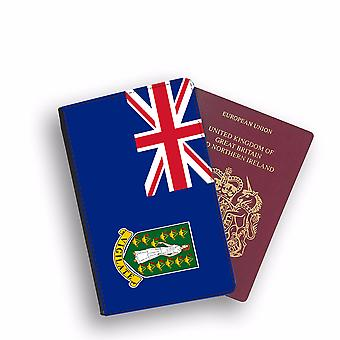 BRITISH VIRGIN ISLANDS Flag Passport Holder Style Case Cover Protective Wallet Flags design
